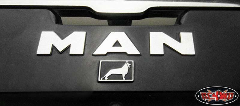 rc4wd metal emblem set for tamiya 1 14 man truck vvv c0023. Black Bedroom Furniture Sets. Home Design Ideas