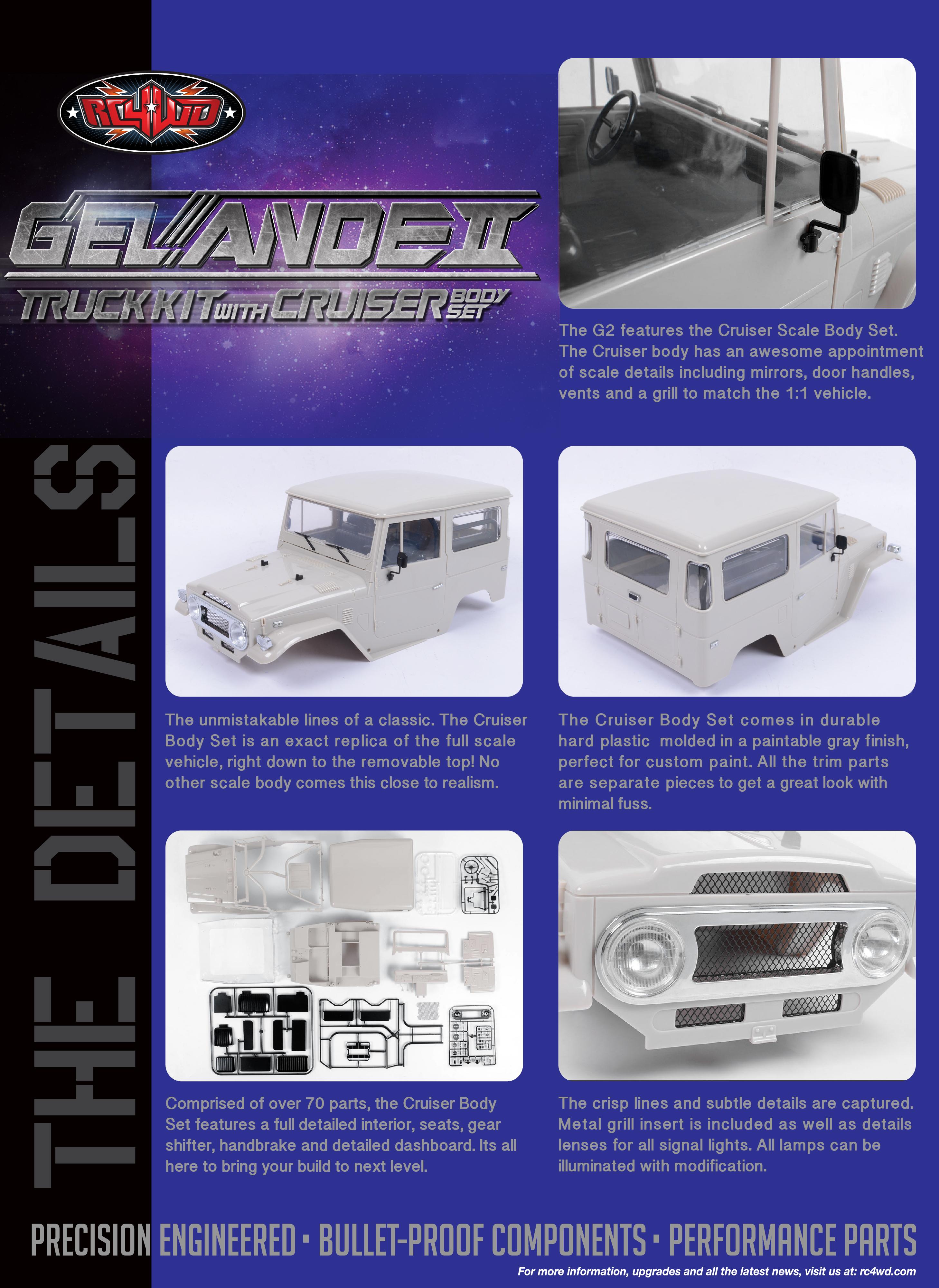 RC4WD Gelande II Truck Kit w/Cruiser Body Set Z-K0051 - RC-HP.de ...