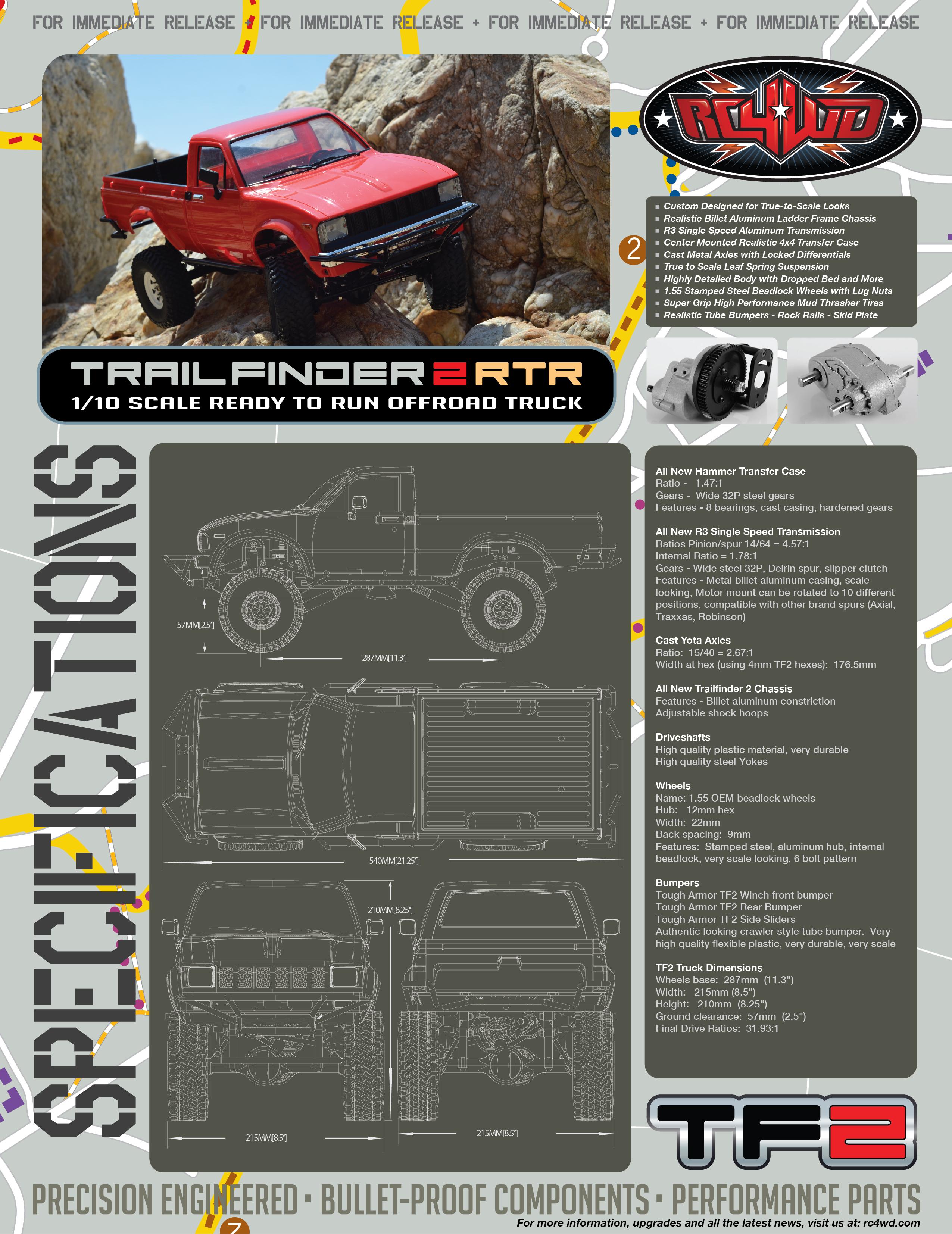 RC4WD RC4WD Trail Finder 2 RTR w Mojave II Body Set Z RTR0024 RC HP Traxxas Arrma RC4WD Axial Yokomo MST