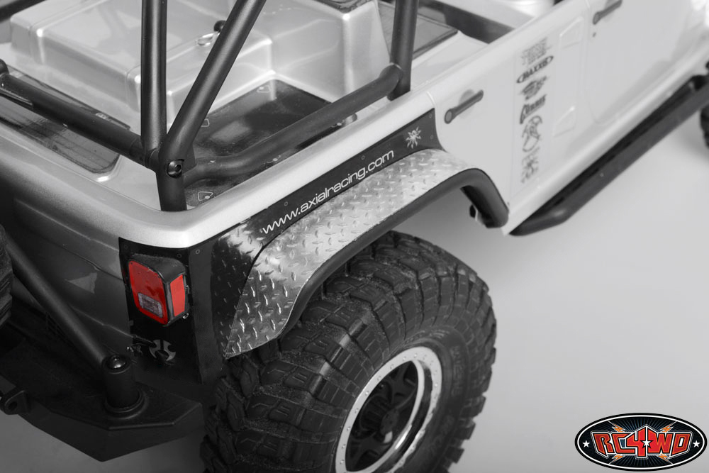 Jeep Wrangler Fenders >> Diamond Plate Fender Covers for Axial Jeep Rubicon