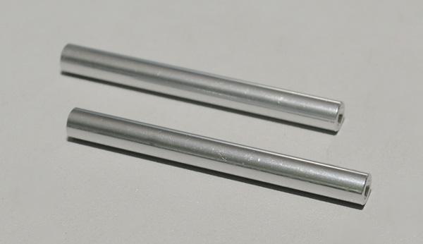 Solid Aluminum Pipe : Mm quot aluminum long shiny solid links