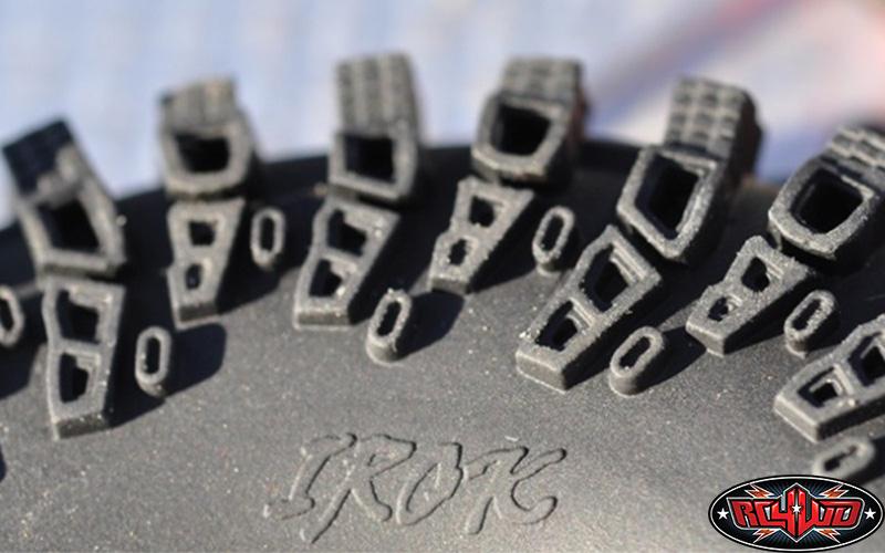 Iycorish 2 St/üCk 1,55 Zoll Gummi Reifen f/ür 1//14 Rm8 Baja RC Crawler Ferngesteuerte Autoreifen