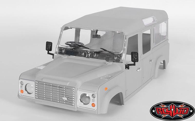 rc4wd 1 10 defender d110 hard plastic body kit z b0064 interior details rc bitz. Black Bedroom Furniture Sets. Home Design Ideas