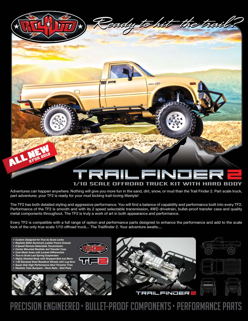 Trail Finder 2 Truck Kit w/Mojave Body Set (White) - RC4WD Forums