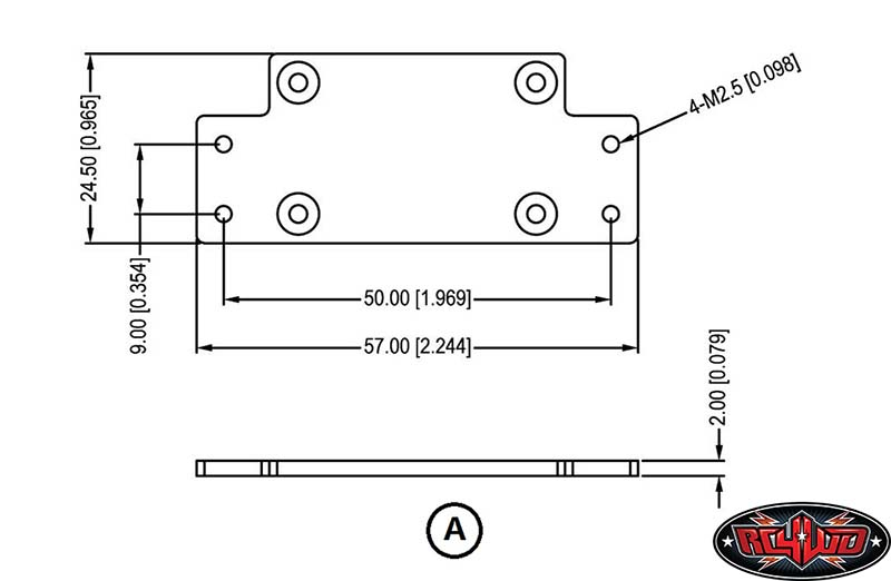 rc4wd 1 10 warn 9 5cti winch cnc mounting plates old ramsey winch wiring  diagram s